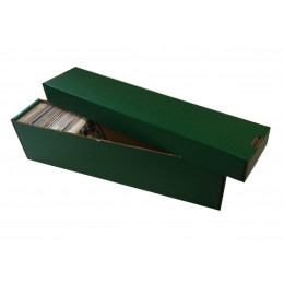 800ct 2pc Cardboard Vertical Trading Card Storage Box - Green