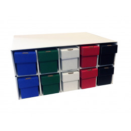 New & Improved Penthouse Card House with 10 800ct 2pc Color Vertical Boxes