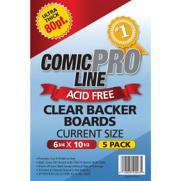 Crystal Clear Backer Boards Current Size - 80 Point Thickness- 5ct Pack