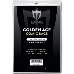 Golden Comic Bags - 7-5/8x10-1/2 - 100ct Pack
