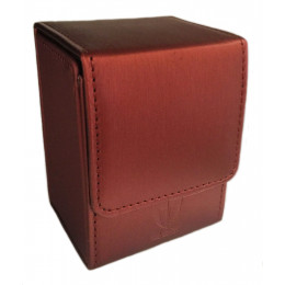 Single Ion Deck Box - Red Leatherette - Magnetic Closure