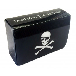 Commander Dual Deck Box with Magnetic Closure - Pirate Skull and Crossbones