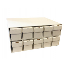 New & Improved Penthouse Card House with 10 800ct 2pc Vertical Boxes