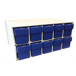 New & Improved Penthouse Card House with 10 800ct 2pc Blue Vertical Boxes