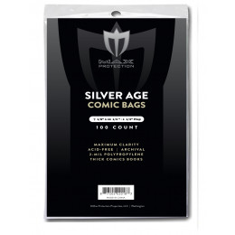 Silver Age Comic Bags - 100ct Pack