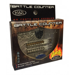 Abacus Style Victory Battle Counter with Velvet Pouch - Black