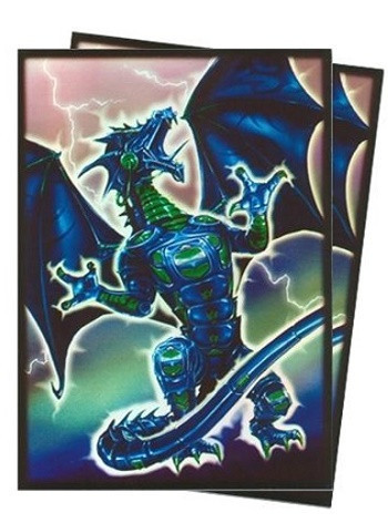 Deck Protector Sleeves - 50ct - Robo Dragon Fury - Blue