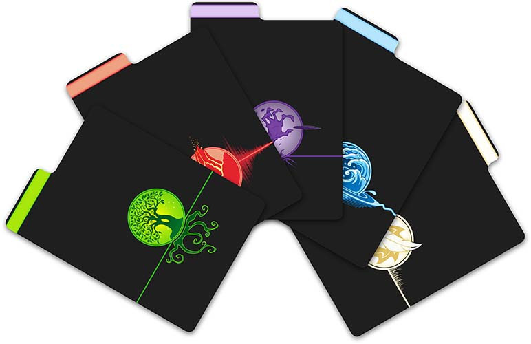 Premium Card Dividers - 5ct Pack - Elementals