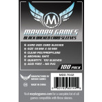 Mayday Games Euro Card Sleeves Black Backed - 59mm x 92mm - 50ct Pack