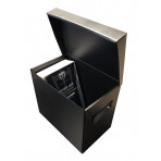 Plastic Flip Top Comic Storage Box - Black