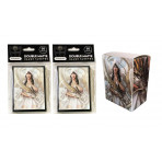 Combo - LET SLEEPING DRAGONS LIE -100ct DOUBLE MATTE Deck Protector Sleeves + Deck Box