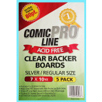 Crystal Clear Backer Boards Silver Size - 80 Point Thickness - 5ct Pack