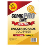 Golden Comic Boards - 56 Point - Super Full Back Size - 50ct Pack
