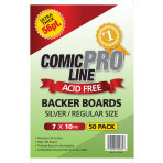 Silver/Regular Comic Boards - 56 Point - Super Full Back Size - 50ct Pack