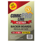 Regular Comic Boards - 56 Point - Super Full Back Size - 50ct Pack