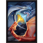 FIGHTING DRAGONS - Red / Blue Drakes -50ct DOUBLE MATTE Art Deck Protector Sleeves