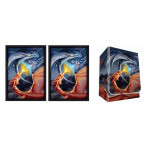 Combo  - FIGHTING DRAGONS - Red / Blue Drakes  -100ct DOUBLE MATTE Deck Protector Sleeves + Deck Box
