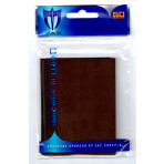 Standard Gloss Sleeves - 50ct MTG Size - Chocolate Brown