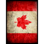 Deck Protector Sleeves - 50ct - Canada Maple Leaf Flag