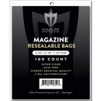 Max Pro Premium Ultra Clear Resealable Magazine Bags - 100ct Pack