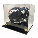 Deluxe Acrylic Football Helmet Display Case With Mirror Back
