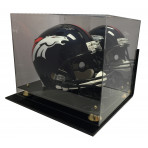 Wall Mount Deluxe Acrylic Football Helmet Display Case With Mirror Back