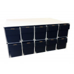 New & Improved Penthouse Card House with 10 800ct 2pc Black Vertical Boxes