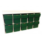 New & Improved Penthouse Card House with 10 800ct 2pc Green Vertical Boxes