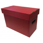 Colored Short Comic Storage Box - Red - Holds 150-175 Comic Books