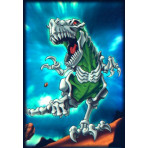 HOLO Deck Protector Sleeves - 50ct - Skeleton T-Rex