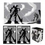 Combo - UNDEFEATED -100ct DOUBLE MATTE Deck Protector Sleeves + Deck Box + Playmat