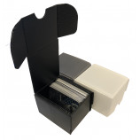 100ct Plastic Corrugated Card Box - Black