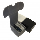100ct Plastic Corrugated Card Box - Gray