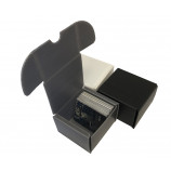 200ct Plastic Corrugated Card Box - Gray