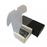 200ct Plastic Corrugated Card Box - White
