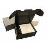 300ct Plastic Corrugated Card Box - Black