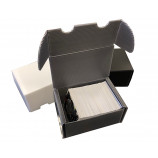 300ct Plastic Corrugated Card Box - Gray