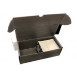 550ct Plastic Corrugated Card Box - Gray