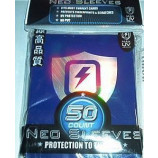 Max Gloss LIGHTNING SHIELD HOLOGRAM Sleeves - Standard Size - 50ct BLUE