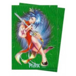 Max Gloss GREEN Holo KUNG FU GIRL - Sleeves - Standard Size - 50ct