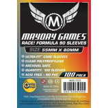 Race! Formula 90 Card Sleeves - Ultra Fit - 55mm x 80mm - 100ct Pack