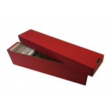 800ct 2pc Cardboard Vertical Trading Card Storage Box - Red