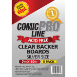 Silver Comic Boards - 56 Point - Super Full Back Size - 50ct Pack