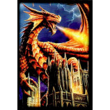 Deck Protector Sleeves - 60ct Small - Dragon Fury
