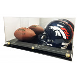 Full Size Football and Full Size Helmet Display Case