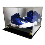 Deluxe Acrylic UV Protected Double Sneaker Shoe Cleat Mirror Display to Size 16