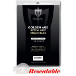 Max Protection Golden Comic Bags - Resealable