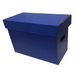 Colored Short Comic Storage Box - Blue - Holds 150-175 Comic Books
