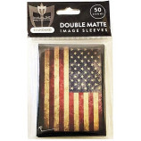 USA FLAG - Old Glory -50ct DOUBLE MATTE Art Deck Protector Sleeves