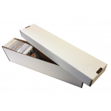 800ct 2pc Cardboard Vertical Trading Card Storage Box - White